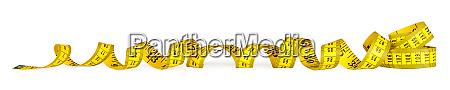 yellow metric measuring tape