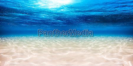 underwater blue ocean sandy background