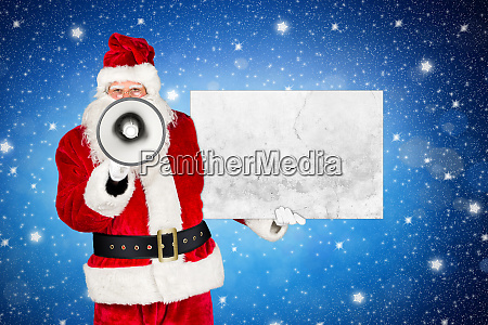 traditional classic red white santa claus