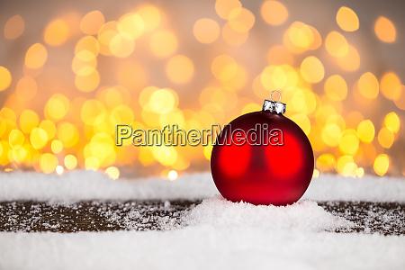 red christmas xmas bauble ball