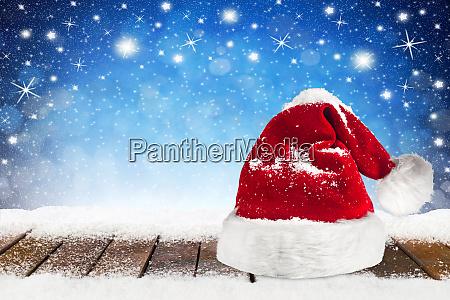 christmas xmas background with santa claus