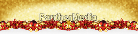 christmas garland super wide red gold