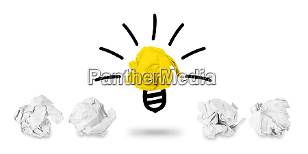 idea paper ball concept