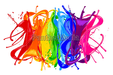 abstract color splash rainbow