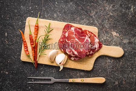 dried pork meat slices
