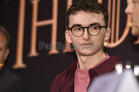 isaac hempstead wright during the press