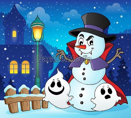 vampire snowman theme image 2