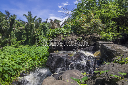 mauritius balaclava waterfall at the