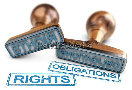 rights and obligations words over white