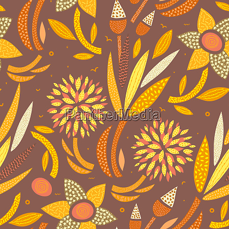 vector seamless pattern abstract hand drawn