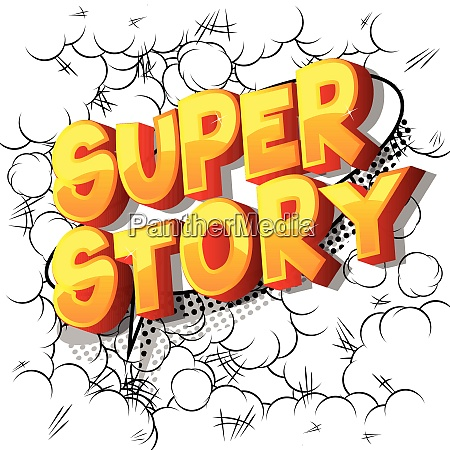 super story comic book style
