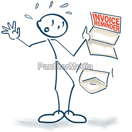stick figure with a sudden invoice