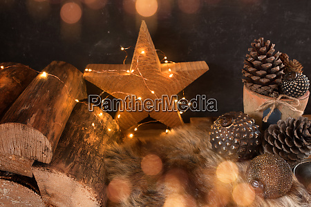 luminous still life for christmas time