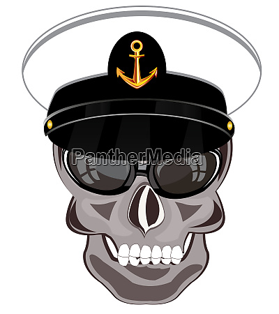 skull of the person in service
