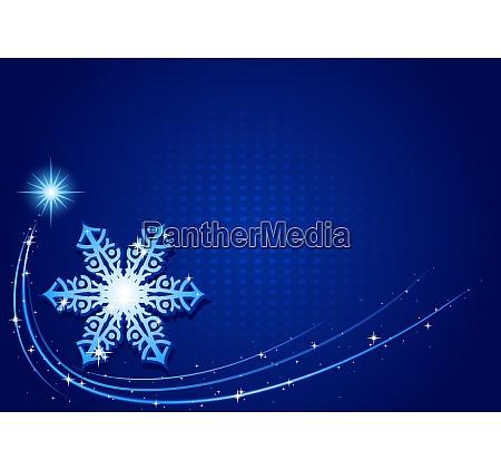 blue christmas snowflake background