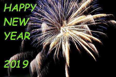 fireworks happy new year 2019