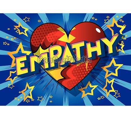empathy comic book style words