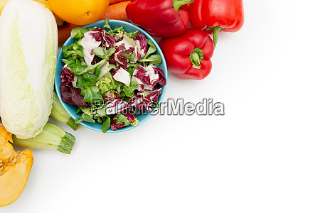 vegetable diet nutrition and medication concept