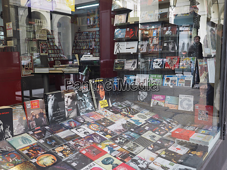 record store in turin