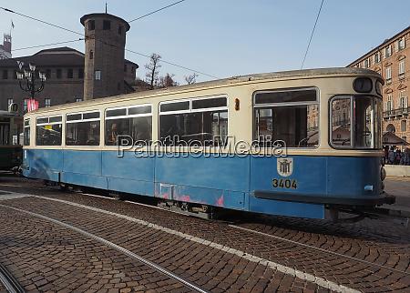 vintage german 3404 tram at turin