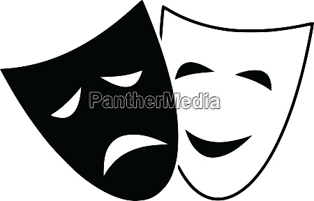 tragedy drama theatre comedy mask expression