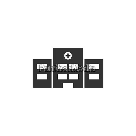 krankenhaussymbol auf weissem hintergrund