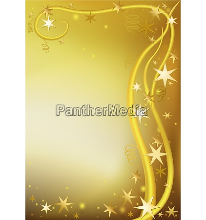 gold christmas background bordered with stars