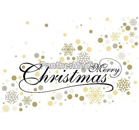 merry christmas with gold glittering design