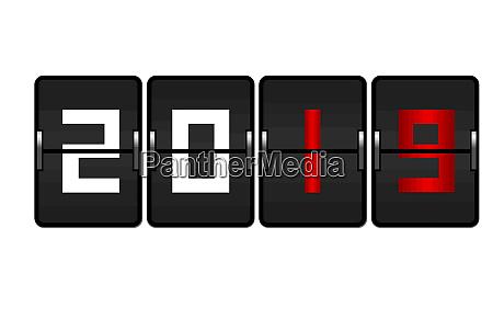 counter new year flip 2019 modern