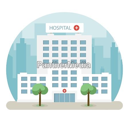 hospital building in a big city