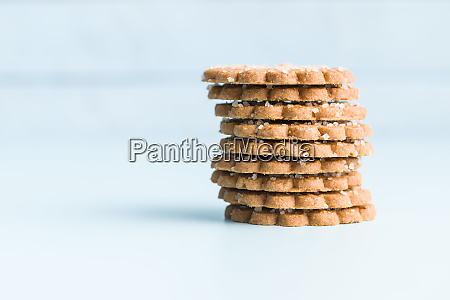 christmas biscuits with sugar crystals