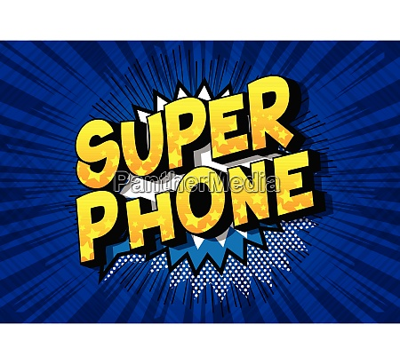 super phone comic book style