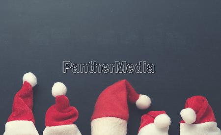 five hat of santa