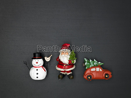 christmas background with different small christmas