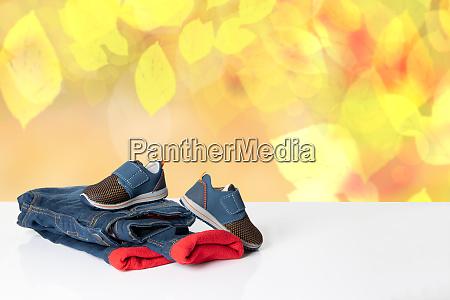 colorful children jeans clothes fashionable