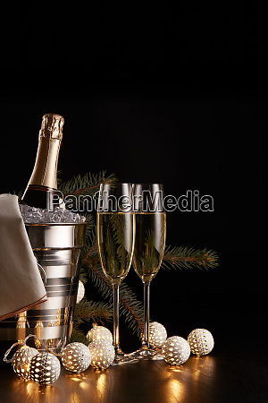 champagne, and, christmas, and, new, year - 26080893