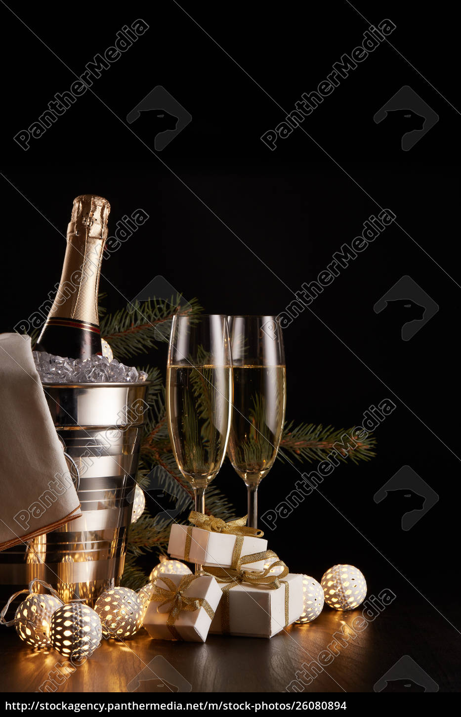 champagne, and, christmas, and, new, year - 26080894