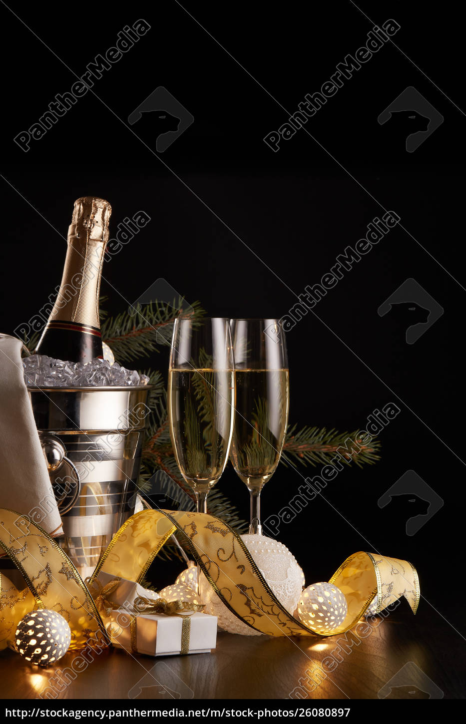 champagne, and, christmas, and, new, year - 26080897