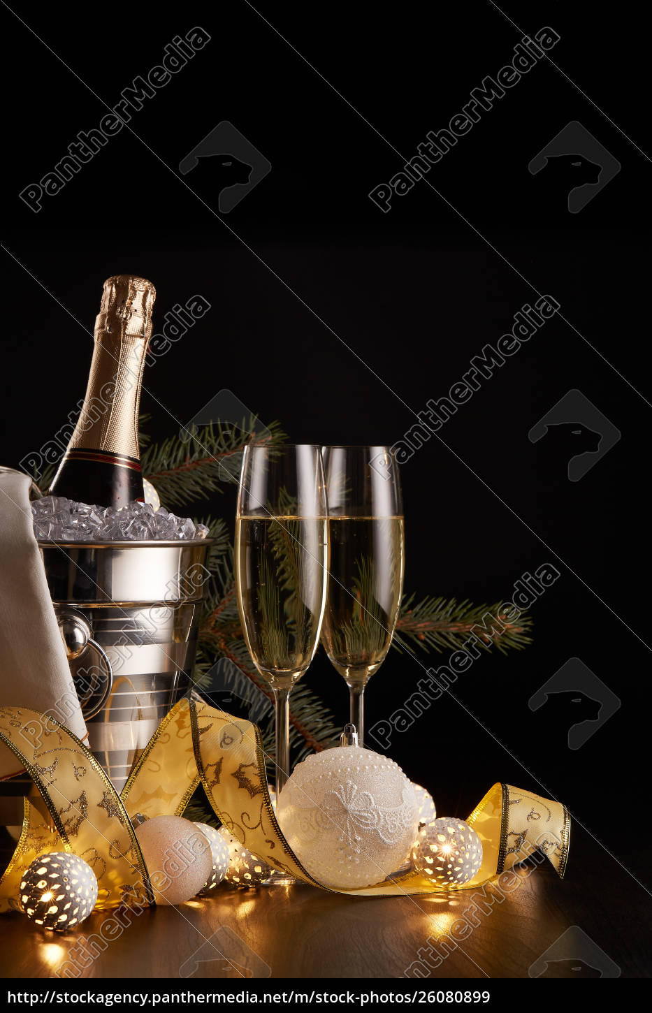 champagne, and, christmas, and, new, year - 26080899