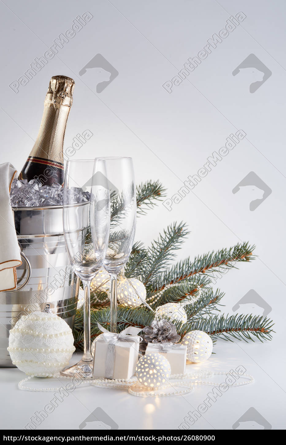 champagne, and, christmas, and, new, year - 26080900