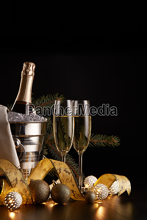 champagne, and, christmas, and, new, year - 26080901