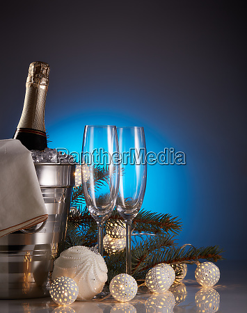 champagne, and, christmas, and, new, year - 26080909