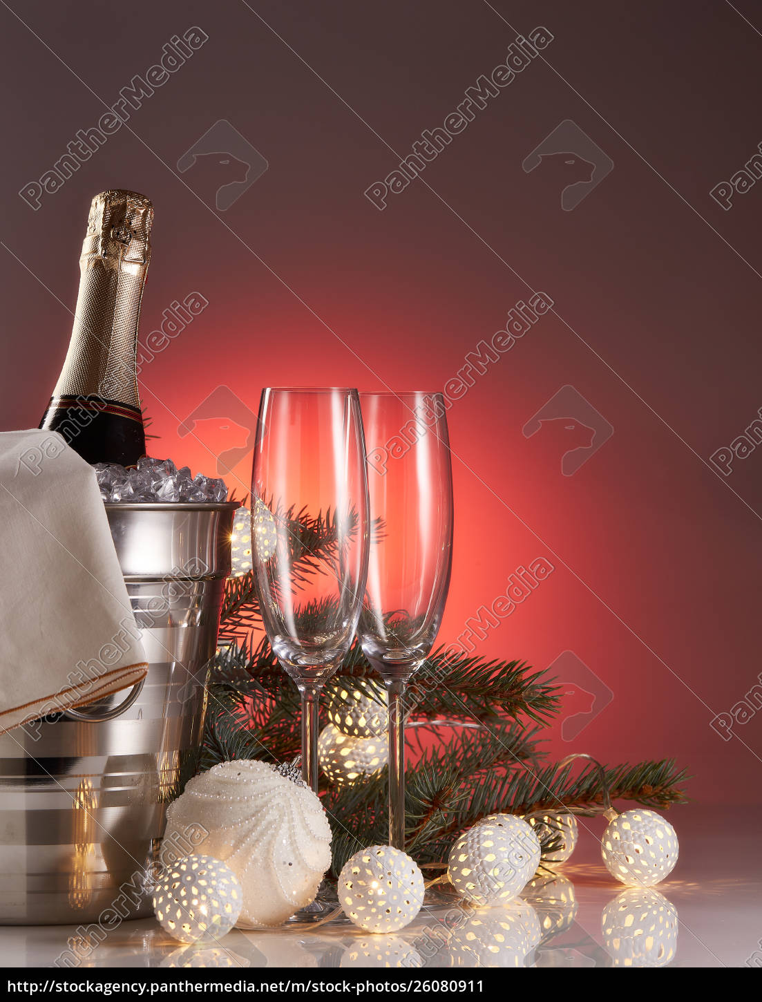 champagne, and, christmas, and, new, year - 26080911