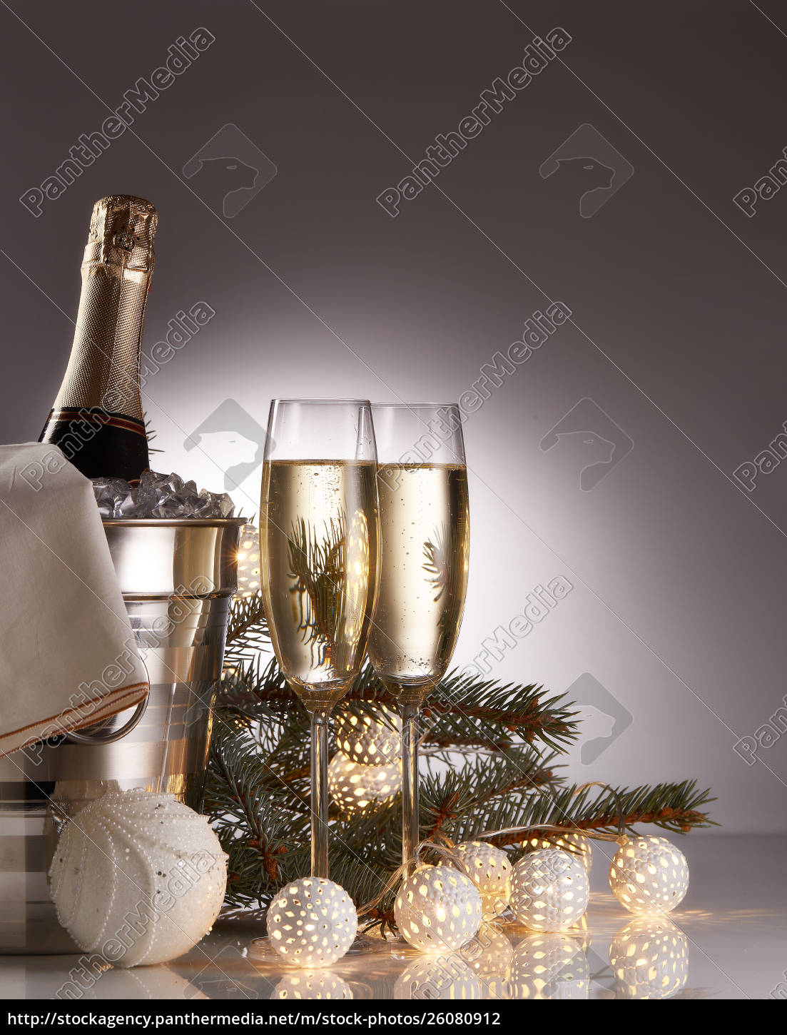 champagne, and, christmas, and, new, year - 26080912