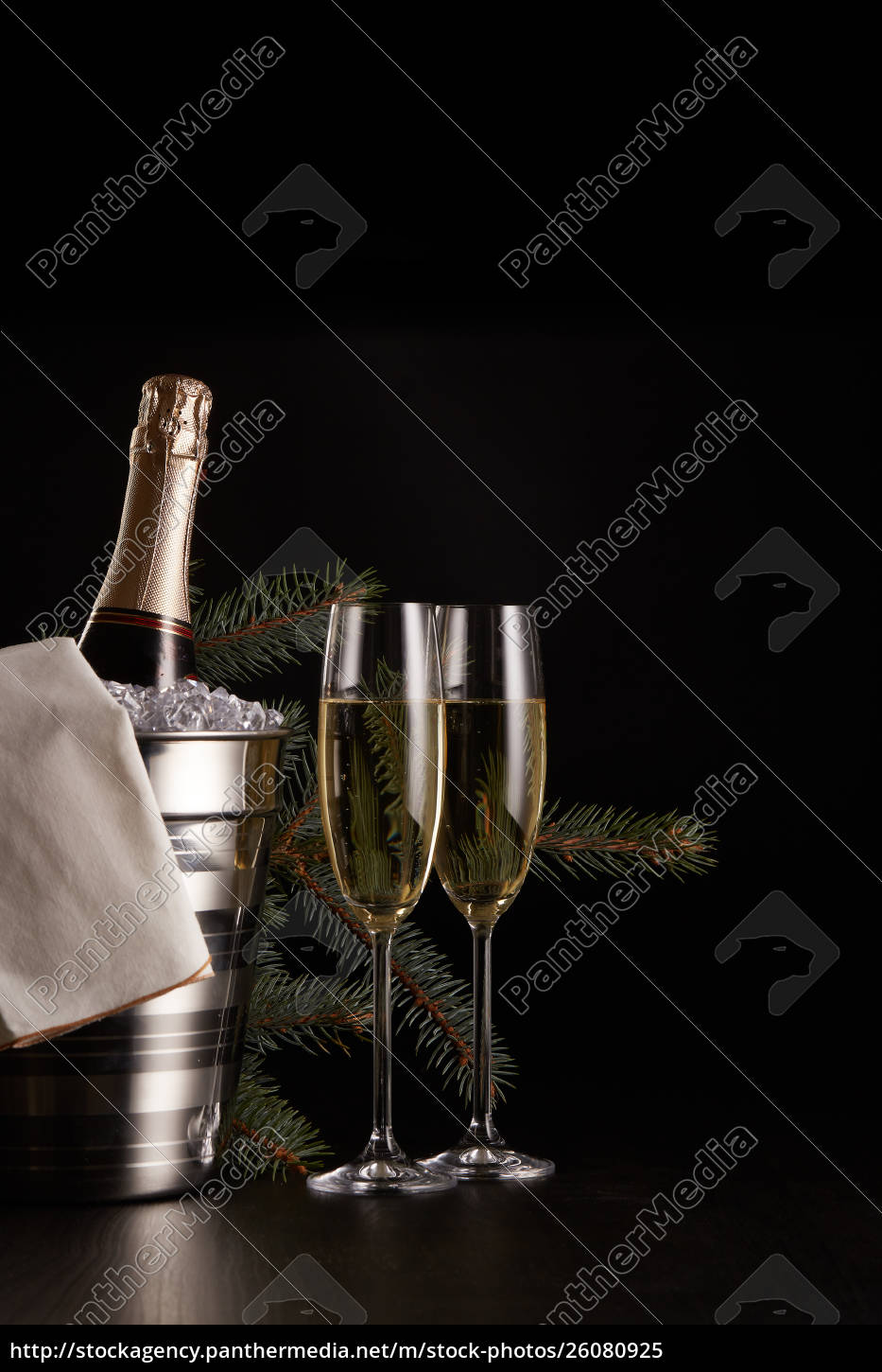 champagne, and, christmas, and, new, year - 26080925