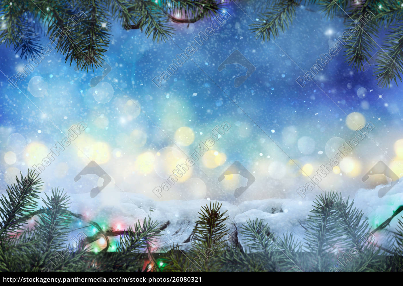 Frozen Christmas.Stock Photo 26080321 Winter Design Christmas Background With Frozen Table Blurred
