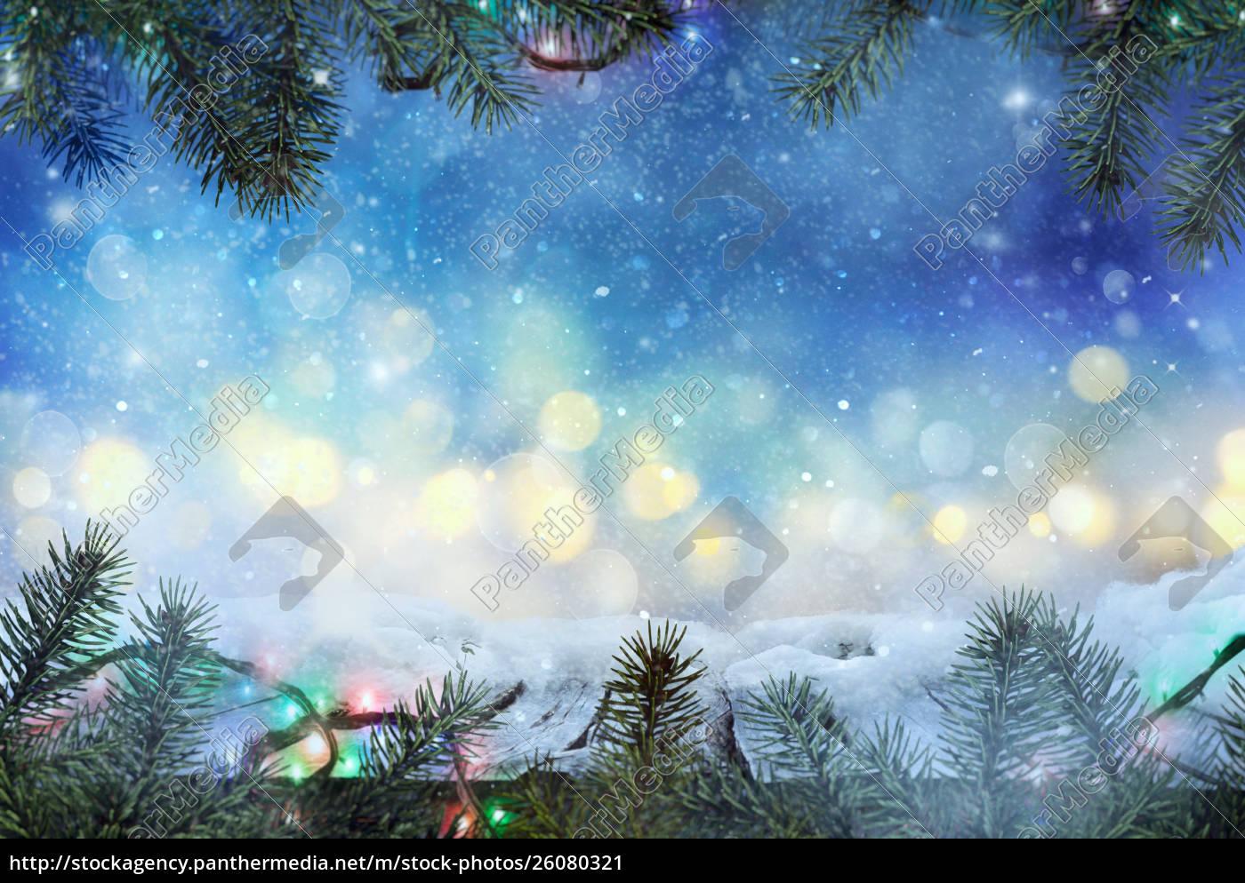 Christmas Background Design.Stock Photo 26080321 Winter Design Christmas Background With Frozen Table Blurred