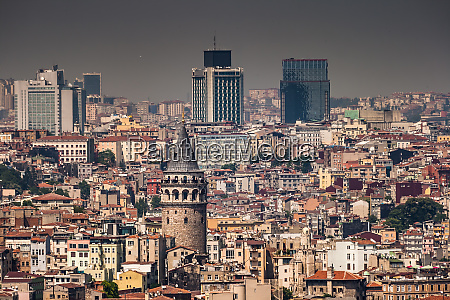 birdeye view of galata istanbul