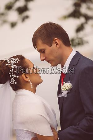 young family wedding newlyweds