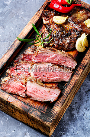 grilled juicy steak